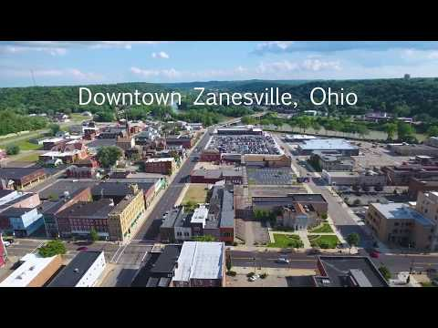 Downtown Zanesville, Ohio In 4k