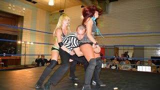 Repeat youtube video Candice LeRae VS. Veda Scott -Absolute Intense Wrestling