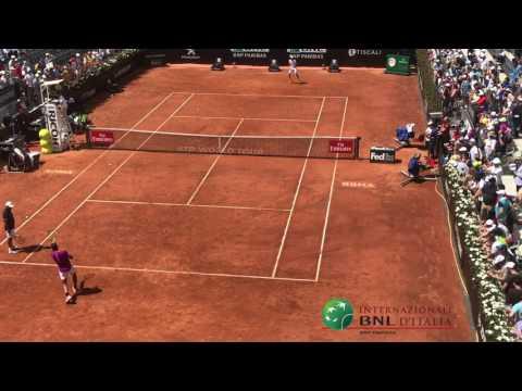 #ibi17 Nadal rimane ad allenarsi dopo il match!