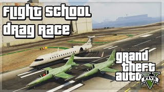 "GTA V - ""Flight School Drag Race"" - GTA 5 Funny Moments w/ The Sidemen!"