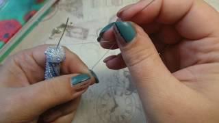 оформление жгута шапочка концевик обниматель из бисера и родонделей