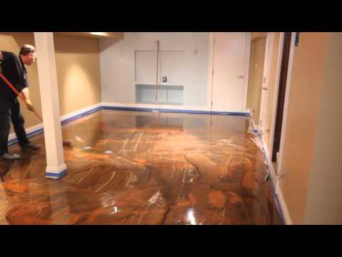 Designer Metallic Epoxy Floor Installation Youtube