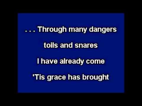 Amazing Grace Karaoke Instrumental Backing Track Lyrics In G