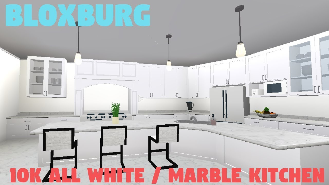 Bloxburg 10k All White Marble Kitchen