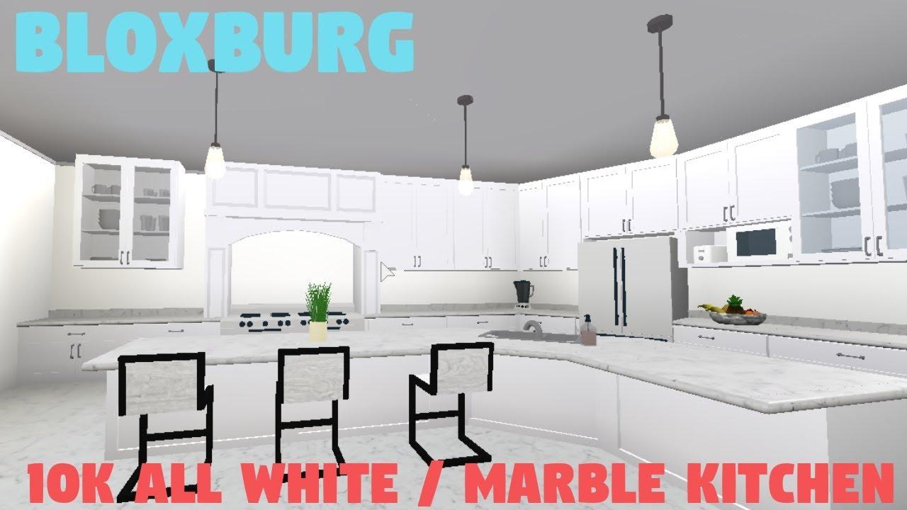 Bloxburg 10k All White Marble Kitchen
