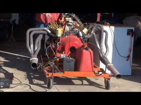 mopar 1969 383 magnum motor running on engine break in stand youtube. Black Bedroom Furniture Sets. Home Design Ideas