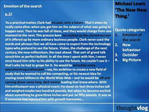 Michael Lewis: The New New Thing Part 1