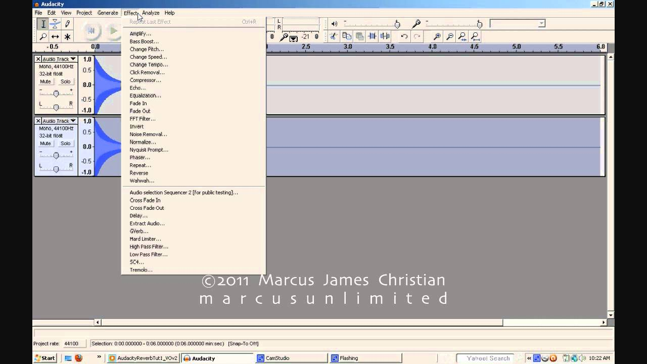 AUDACITY Tutorial HOW TO Add Reverb