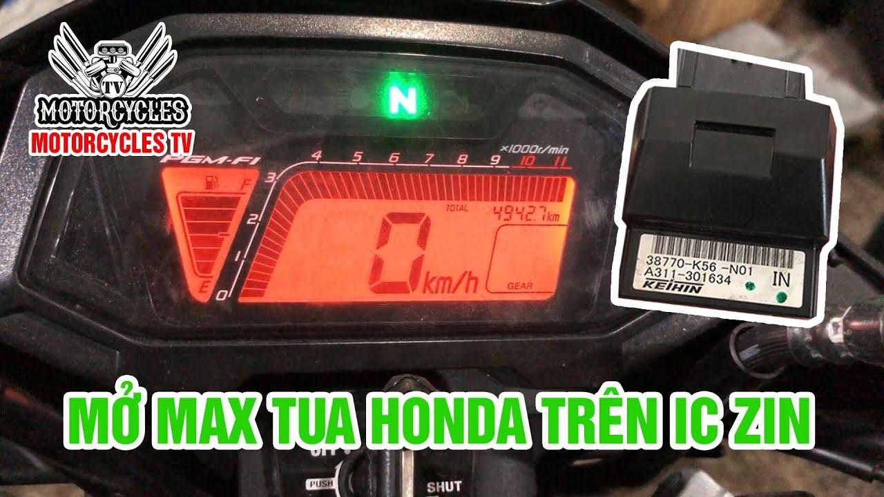 Video 332: Mở Max Tua Máy Cho IC Honda Zin Coi Mạnh Cở Nào | Motorcycle TV