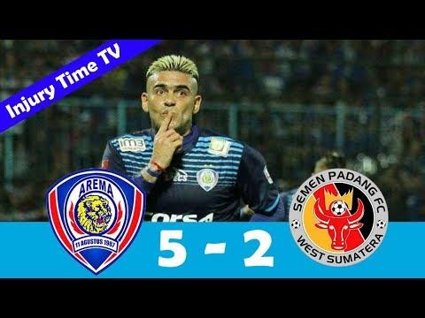 Arema 5-2 Semen Padang | All Goals & Highlights | Piala Presiden 2017