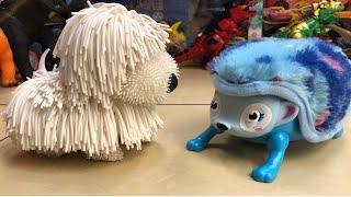 Fluffy SheepDog Toy, hedgehog toy, GREAT MUSICAL TOYS FOR SMALL CHILDREN www.JucariiPentruTine.com