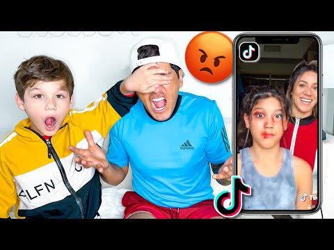 STRICT Dad Reacts To 11 Year Old Daughter's TikTok's!! **GROUNDED**   Familia Diamond