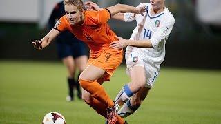 Highlights Oranjevrouwen-Italië 1-1 22-11-2014