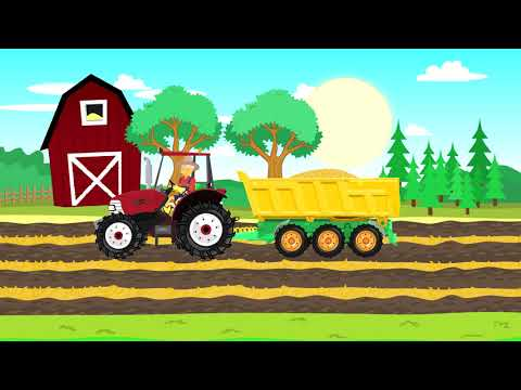 ☼ Traktor and Car Wash | Bazylland ● Red Tractor | Bajka from YouTube · Duration:  10 minutes 25 seconds