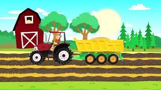 Combine Harvester and #Tractor Farmers are working - harvest | Bajka Traktor i Rolnik pracuje