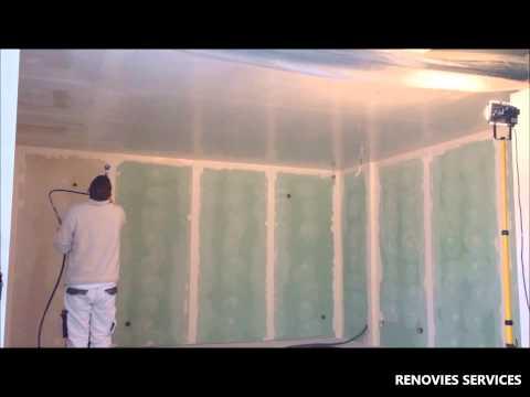 Comment lisser ou enduire son placo 1ere passe doovi for Enduire un plafond en placo