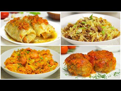 КАПУСТА И ФАРШ! 4 вкусных и любимых блюда. Рецепты от Всегда Вкусно!