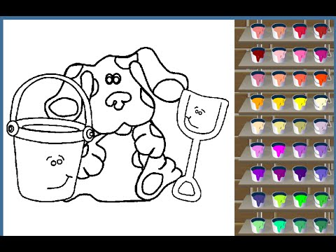 Blues Clues Painting Games Blues Clues Coloring Pages - YouTube