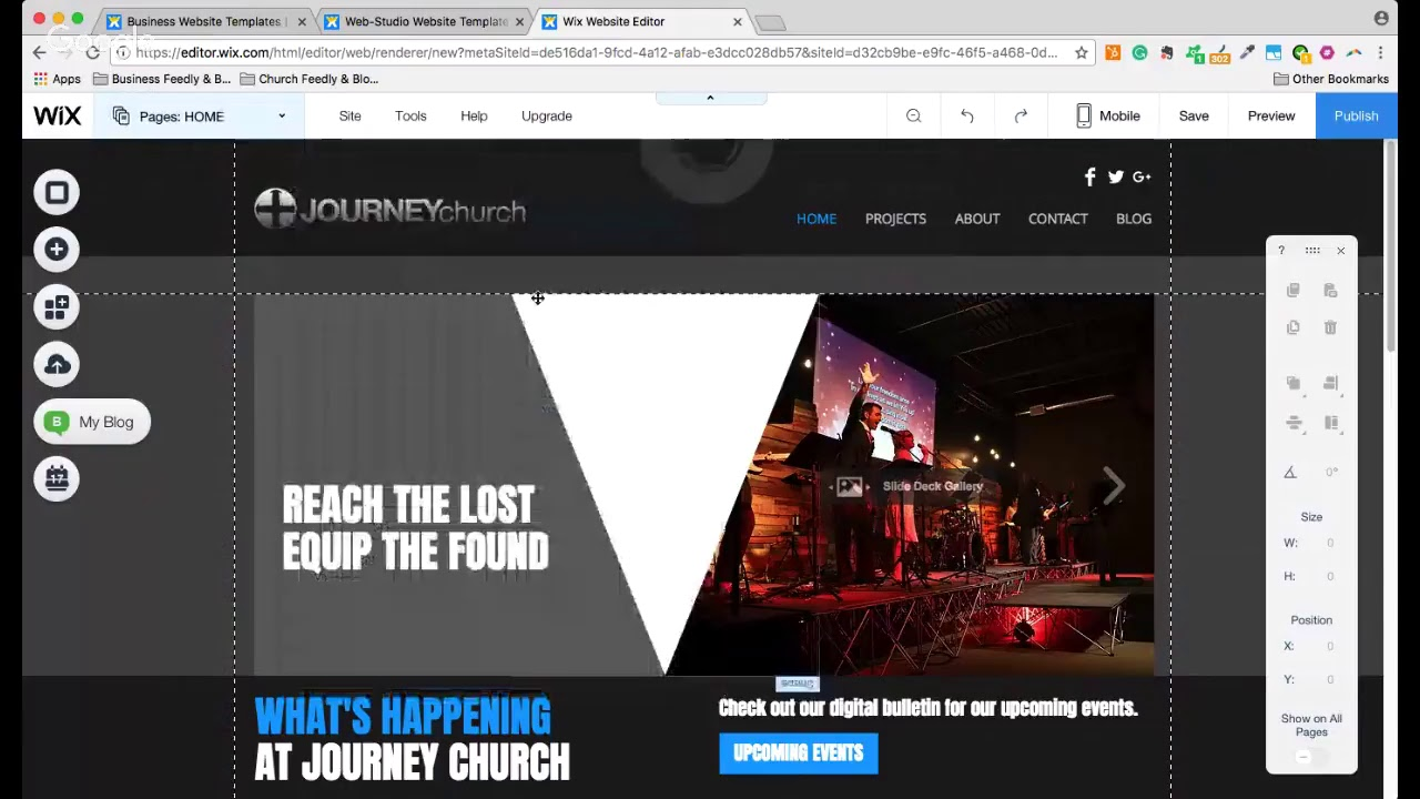 How To Create a Church Website with WIX - Finding Your Church