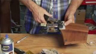 How To Repair Wood Veneer Furniture : How To Clamp Wood Veneer Furniture Patch
