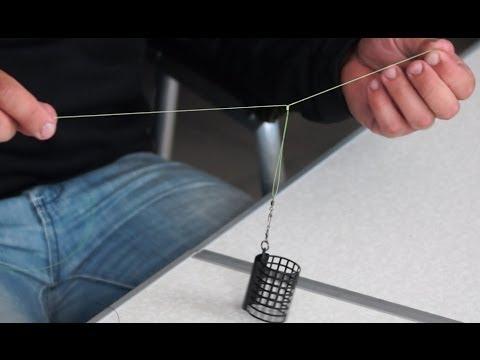 Как привязать кормушку на фидер видео