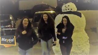 اقوى مقلب اردني مرعب - رجل الثلج المخيف   Funny Scary Snowman Prank