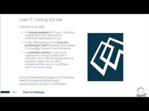 Video: Setting the Standard for Lean IT Education and Certification