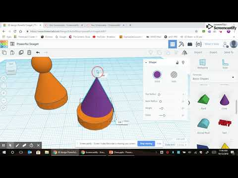 Tinkercad - Simple Chess Piece - Pawn
