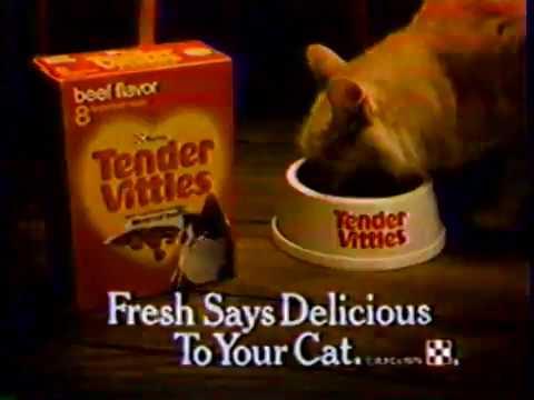 1979 Tender Vittles Cat Food Says Fresh Tv Commercial Youtube