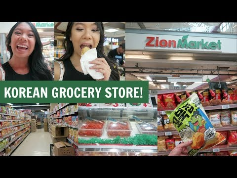 Exploring A Korean Grocery Store! Zion Market Grocery Haul!