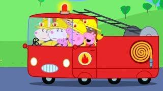 Свинка Пеппа на русском все серии подряд 🚒 Пожарная машина | Мультики