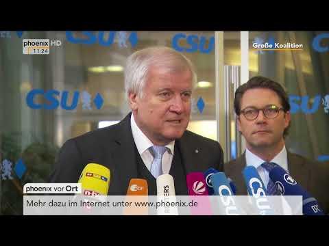 Statement von Horst Seehofer vor der Sitzung des CSU-Vorstands am 08.02.18