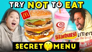 Try To Resist Eating Secret Menu Items | People Vs. Food (McDonalds, Starbucks)