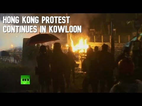 Hong Kong Protest Continues Outside Polytechnic University In Kowloon