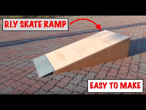 HOW TO MAKE A D.I.Y SKATE SCOOTER BMX MTB RAMP THE EASIEST WAY