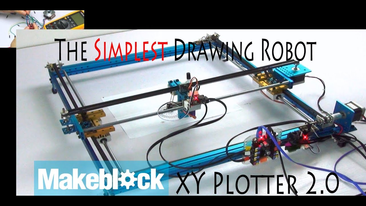 The Simplest Diy Drawing Robot Makeblock Xy Plotter 2 0