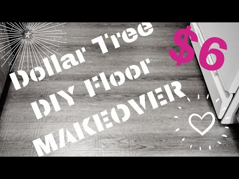 DOLLAR TREE RENTAL HACK | DIY FLOORING UPGRADE | REMOVABLE FLOORING | INEXPENSIVE DECORATING IDEAS