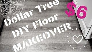DOLLAR TREE RENTAL HACK | DIY FLOORING UPGRADE | REMOVABLE FLOORING | INEXPENSIVE DECORATING IDEAS