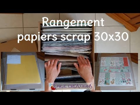 id e rangement papiers scrap 30x30 youtube. Black Bedroom Furniture Sets. Home Design Ideas