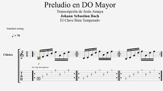 Tablatura Guitarra Bach: Preludio en Do Mayor - Jesús Amaya...