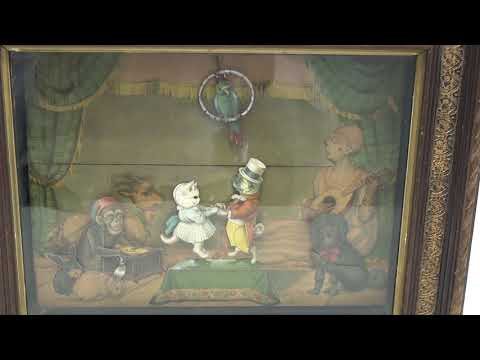 Musical Automaton Picture: Two Dancing Cats
