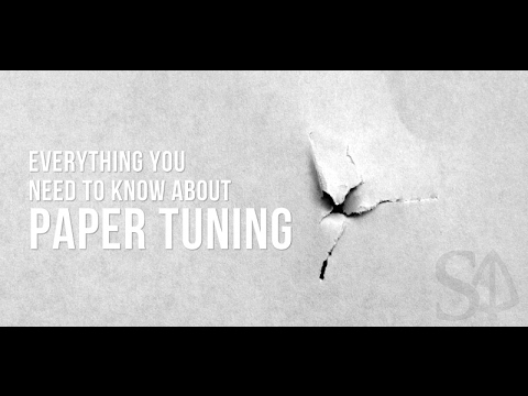 How to make a DIY Bow Paper Tuning system