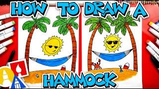 How To Draw A Summer Beach Hammock