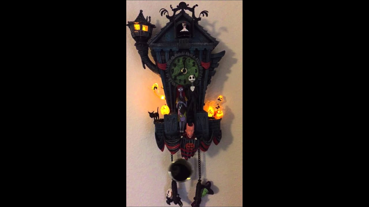 Tim Burton's The Nightmare Before Christmas Cuckoo Clock - YouTube