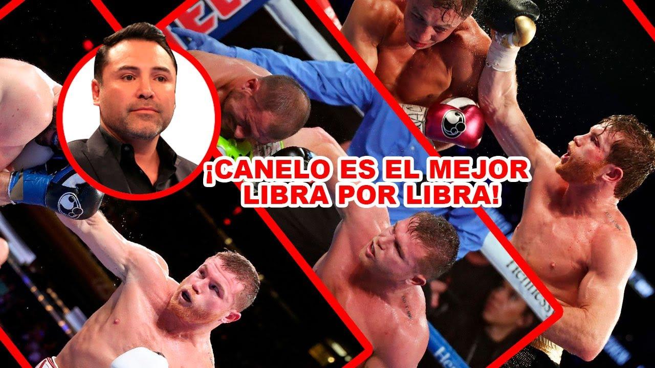 """De La Hoya: """"Canelo es el mejor boxeador libra por libra en el boxeo""""."""
