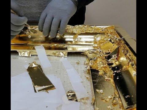 Полный Обзор|Как работать с Поталью и Сусальным золотом