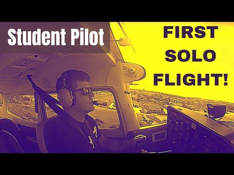 First Solo Flight   Student Pilot   HD GoPro   Cockpit & Radio/Com Audio