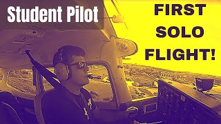 First Solo Flight | Student Pilot | HD GoPro | Cockpit & Radio/Com Audio