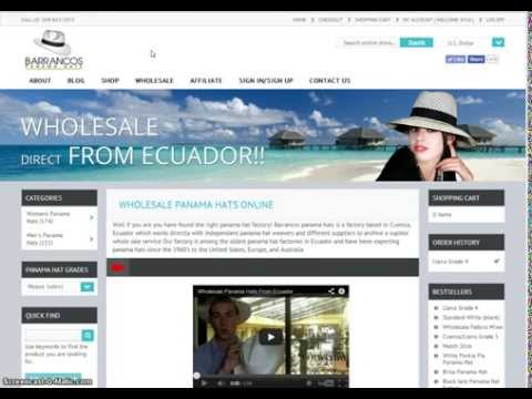 Wholesale Panama Hats Online