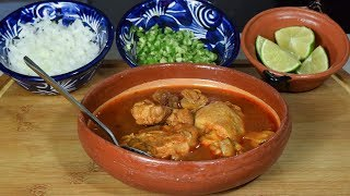 El mas SABROSO!!! Caldo Casero de Pollo y Cerdo